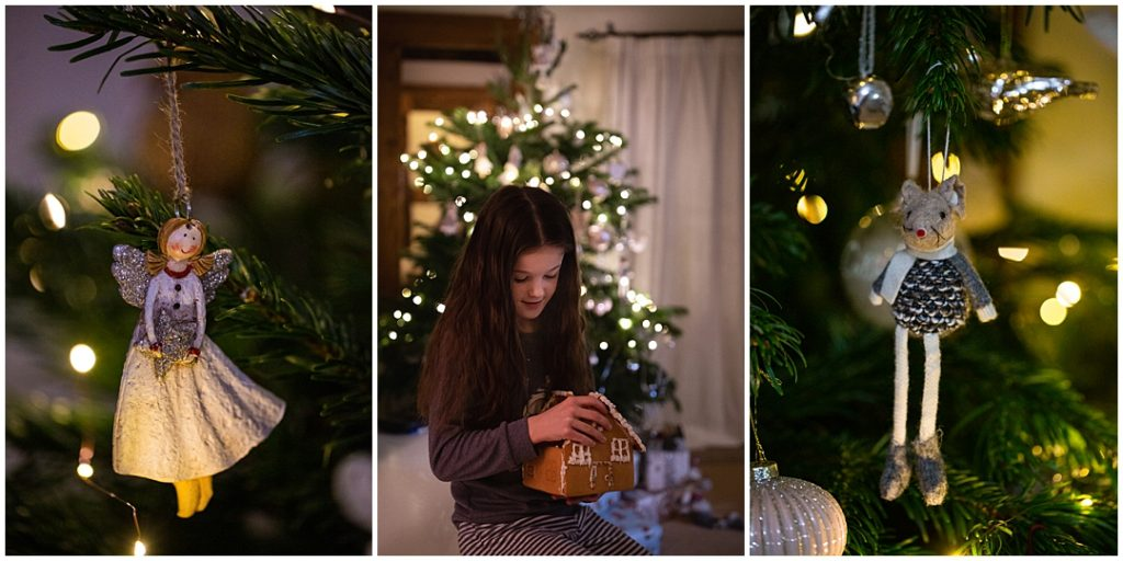 photographing your children around the Christmas tree
